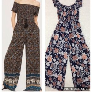 Band of Gypsies off shoulder jumpsuit